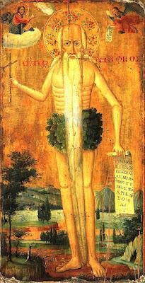 Ονούφριος ο Αιγύπτιος - Βυζαντινή εικόνα του 4ου μ.Χ. αιώνα