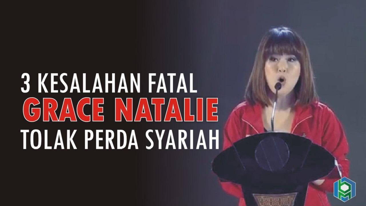 3 kesalahan fatal Grace Natalie tolak perda syariah