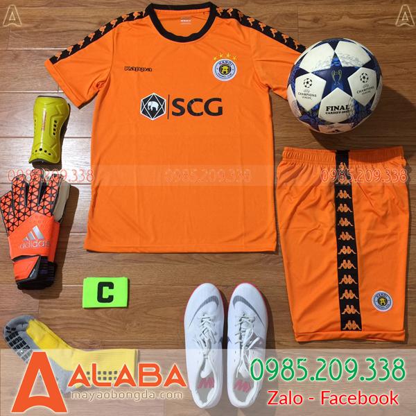 Áo CLB Hà Nội màu cam ấn tượng