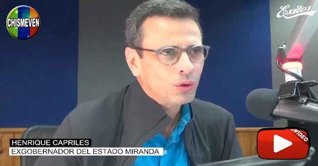 Capriles quiere un acuerdo con Nicolás Maduro para obtener un puesto político