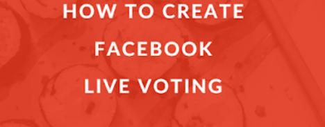 Create live poll on Facebook