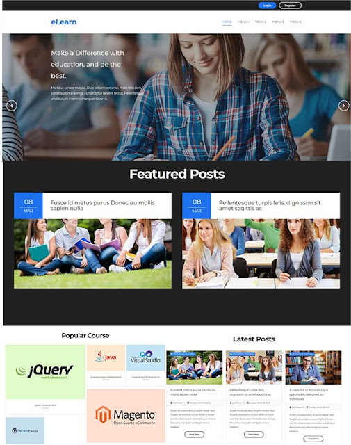 eLearn Blogger Template free download