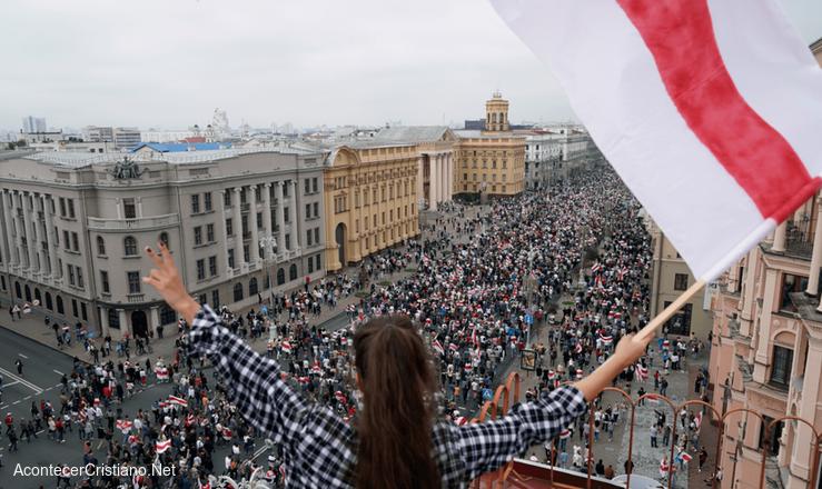 Protestas contra Lukashenko en Bielorrusia