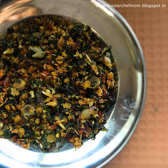 Radish Greens Poriyal | South Indian Style Radish Greens Stir Fry | Gluten Free and Vegan Recipe