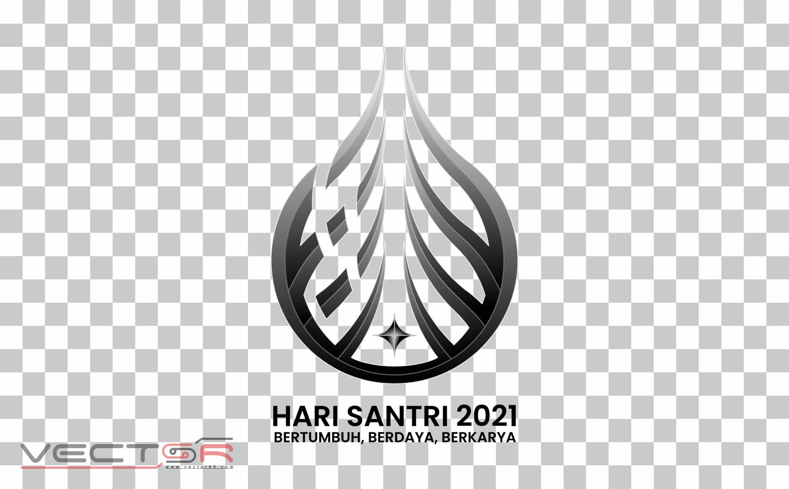 Hari Santri 2021 RMI-NU Grayscale Logo - Download .PNG (Portable Network Graphics) Transparent Images