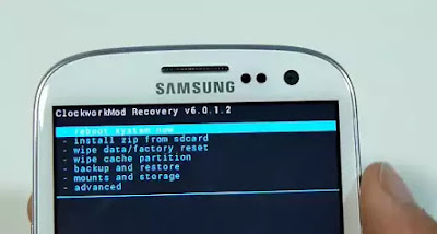 Galaxy S4 Recovery Screen