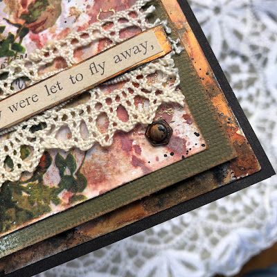 Tim Holtz Sizzix Tattered Butterfly Distress Oxide Sprays Alcohol Pearls Tutorial by Sara Emily Barker https://frillyandfunkie.blogspot.com/2019/03/saturday-showcase-tim-holtz-tattered.html 11