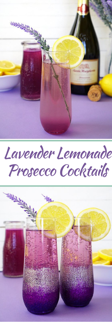 Lavender Lemonade Prosecco  #healthydrink #easyrecipe #cocktail #smoothie