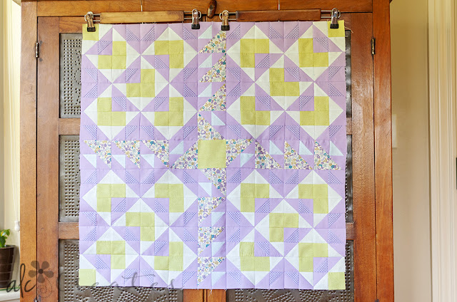 Spring version | Double Windmill Quilt pattern