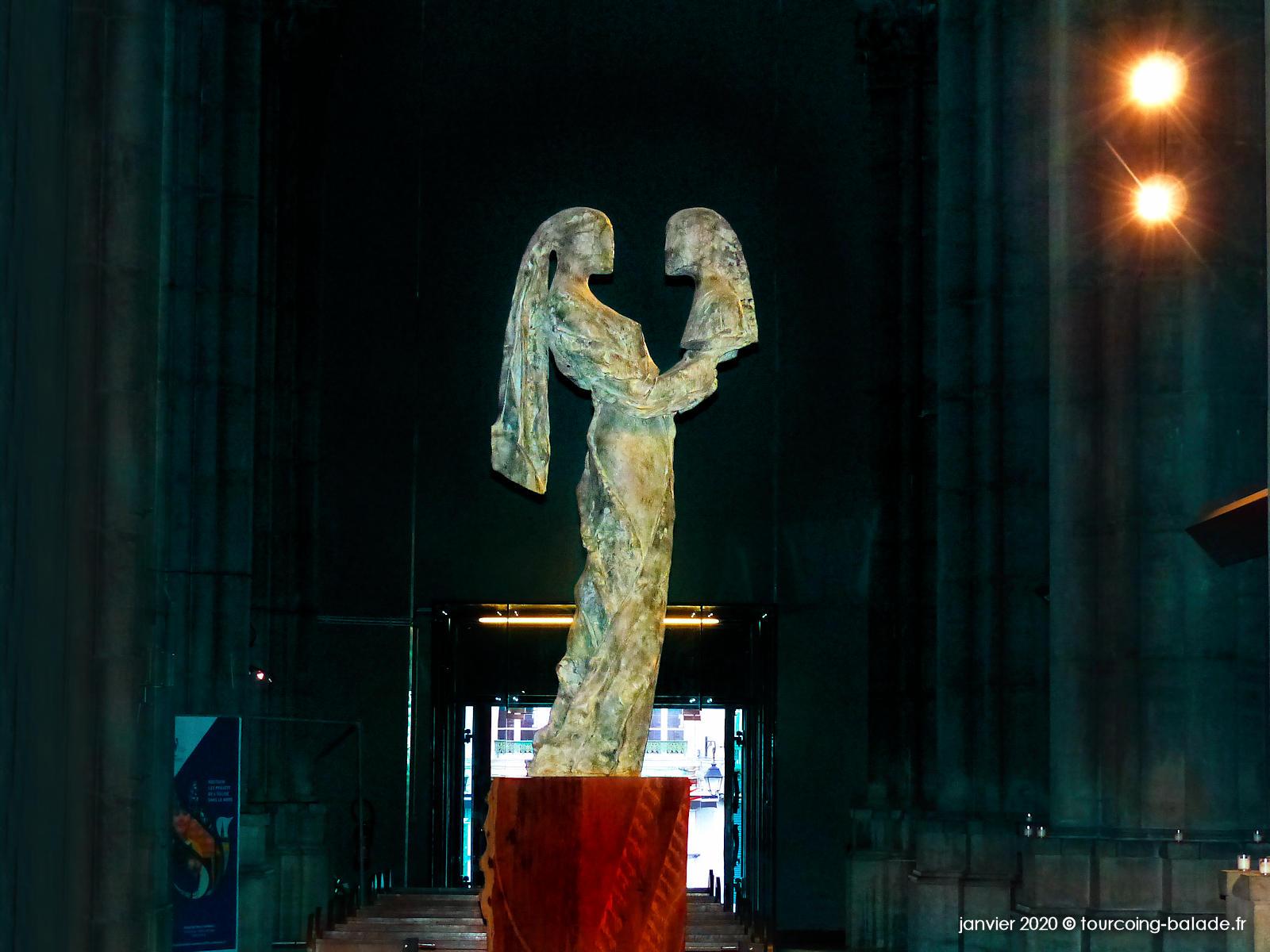 Notre-Dame de la Treille Lille, Sculpture Alquin