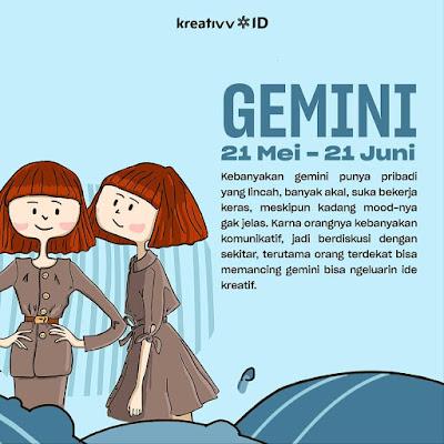 Tips tambah kreatif zodiak GEMINI