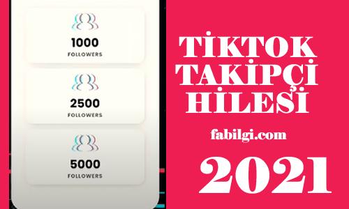 TikTok Tricktok Sitesi Takipçi Artırma Hilesi Ocak 2021 Yeni