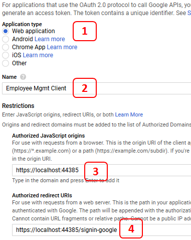 create google oauth client id