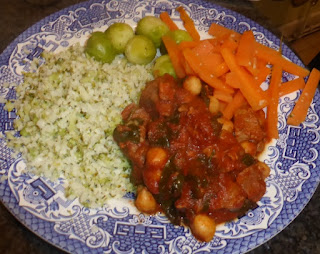 harissa lamb with cauliflower rice