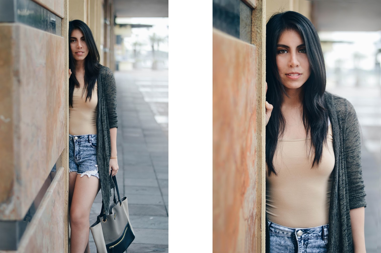 silvia-armas-just-chilling-blusa-nude-cardigan-denim-short-formal-high-heels-purse-handbag-tumblr-girl-top-style-fashion-blogger-ecuador