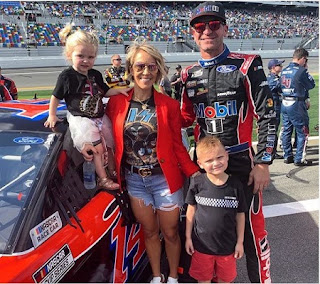Clint Bowyer With His Family