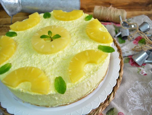 las delicias de mayte, tarta de piña, tarta de piña sin horno, tarta de piña fácil, tarta de piña fría, tarta de piña fácil sin horno, tarta de piña fría sin horno, tarta de piña con gelatina,