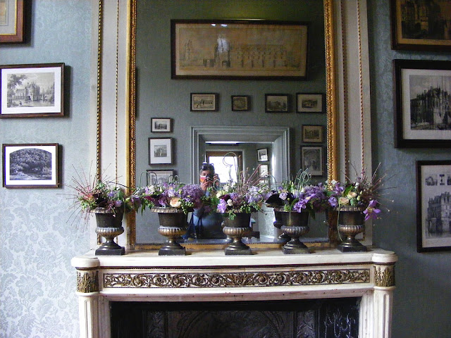 Mirror in the print and etchings room, Chateau of Chenonceau, during Covid19 restrictions.  Indre et Loire, France. Photographed by Susan Walter. Tour the Loire Valley with a classic car and a private guide.