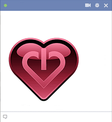 On-Off Heart - Facebook Sticker