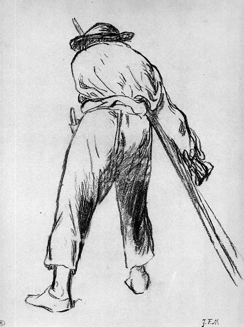 Жан Франсуа Милле - Эскиз движущегося фермера