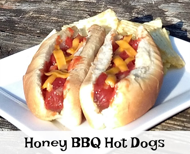 Home Sweet Homestead: Slow Cooker Honey BBQ Hot Dogs