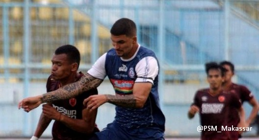 Hasil Skor Arema FC vs PSM Makassar 1-1