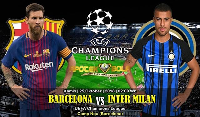 Prediksi Barcelona vs Inter Milan 25 Oktober 2018
