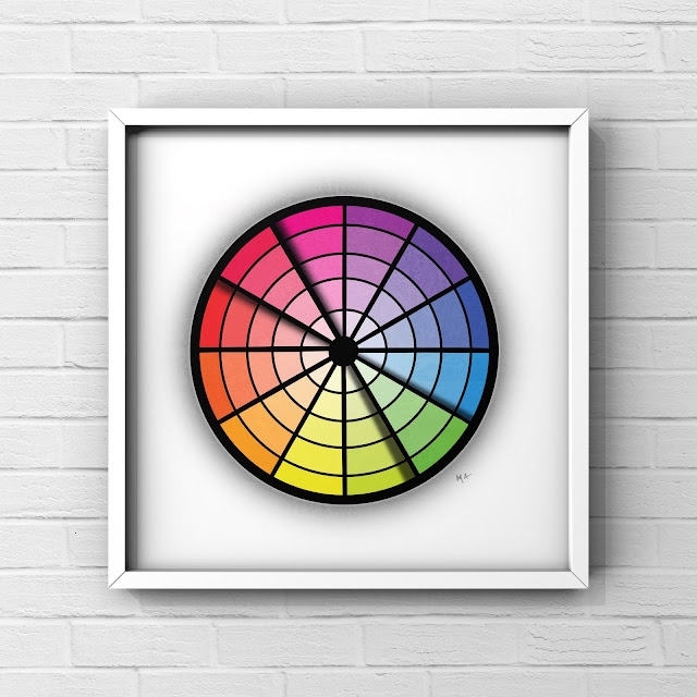 complimentary colour wheel by Mark Taylor