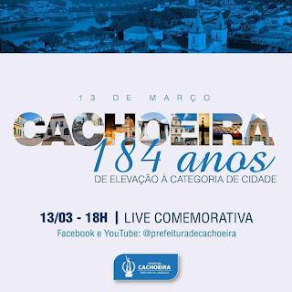 Imagem: Cachoeira celebra 184 anos da elevação à categoria de cidade