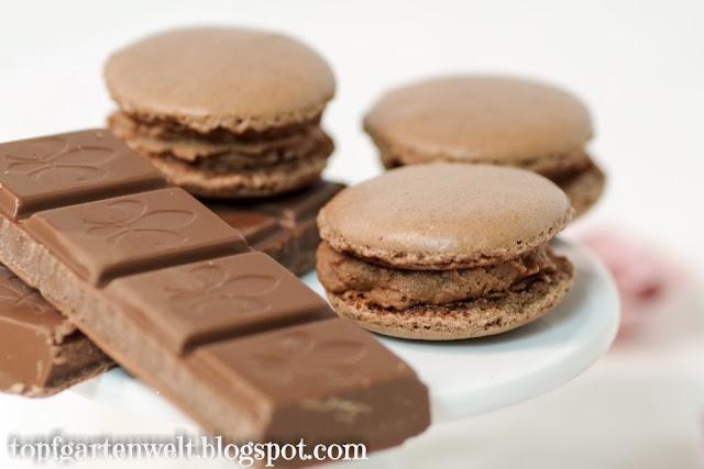 Schokoladenmacarons | Rezept | Schokoladenganache - Foodblog Topfgartenwelt