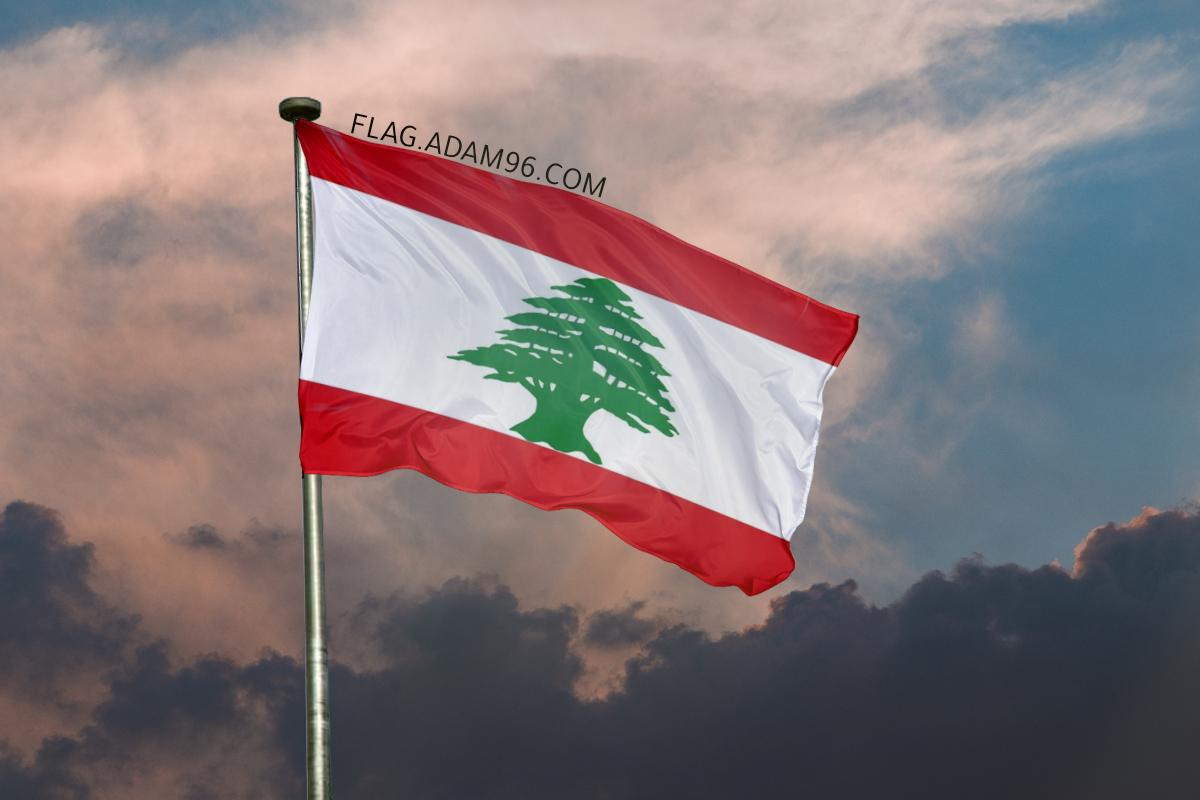 اجمل خلفية علم لبنان يرفرف في السماء خلفيات علم لبنان 2021