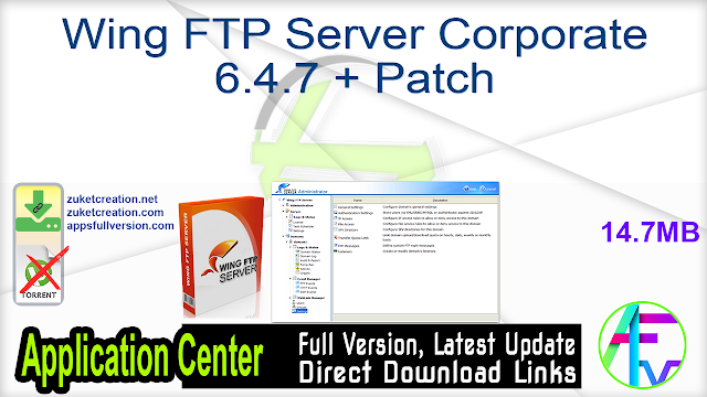 Wing FTP Server Corporate 6.4.7 + Patch