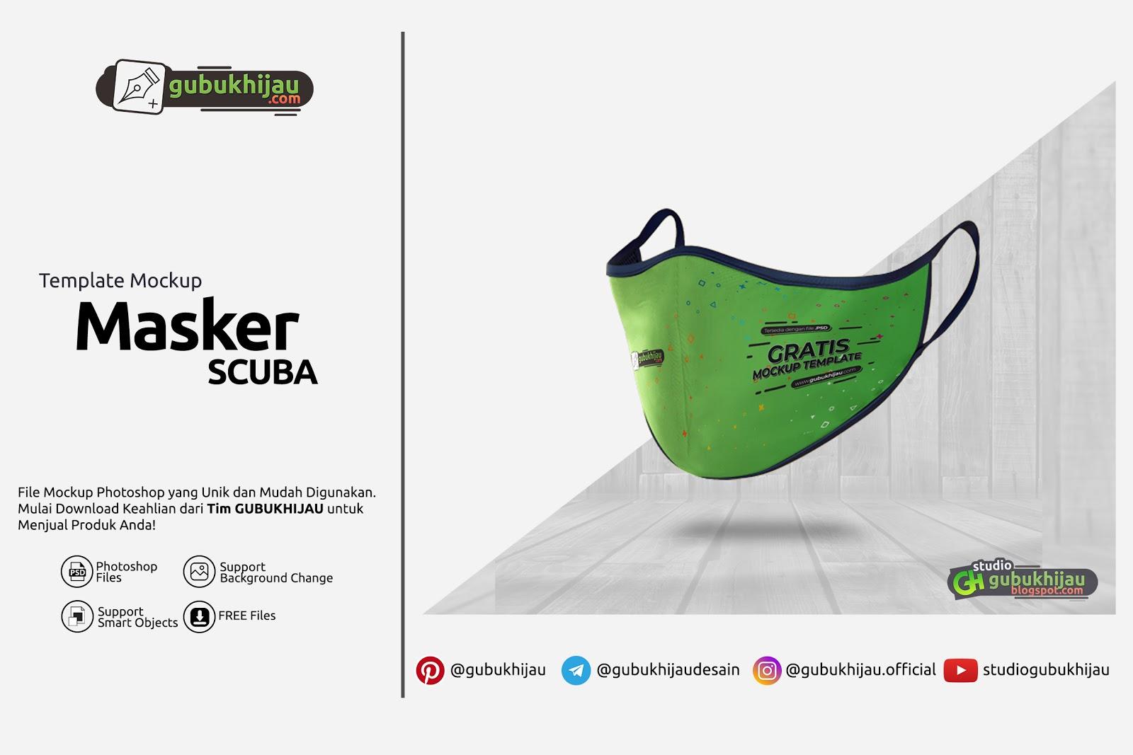 Mockup Masker Scuba by gubukhijau