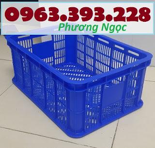 Sọt nhựa rỗng HS018, sóng nhựa đựng hàng, sóng nhựa hở, sóng nhựa đan lưới