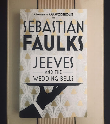"""Photo of book cover of """"Jeeves and the Wedding Bells"""" by Sebastian Faulks"""