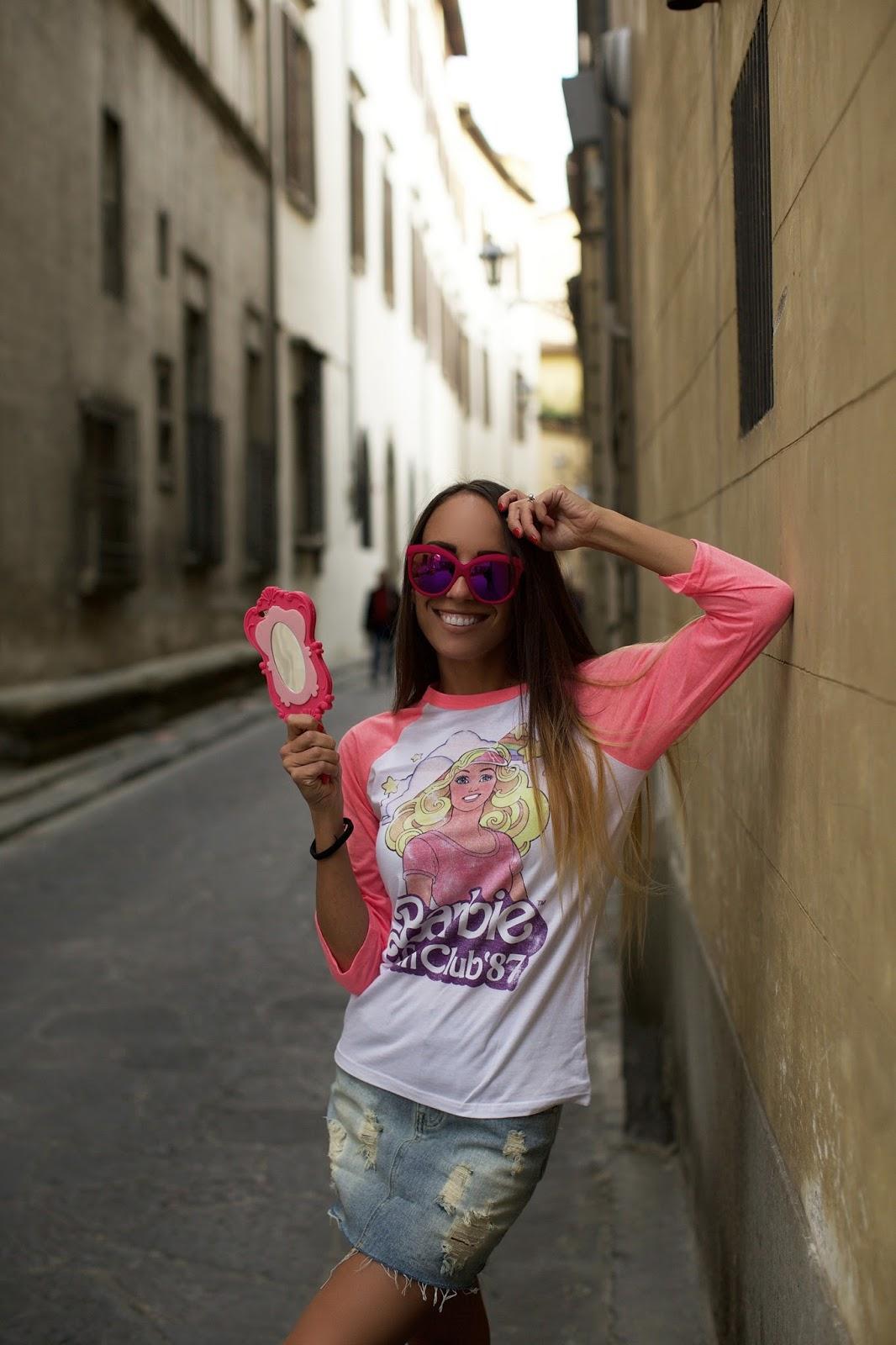maglietta barbie