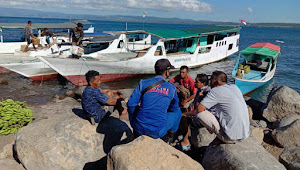 Sat Pol Airud Polres Dompu, Siaga di Pelabuhan Rakyat, Cegah Mudik Arus Balik