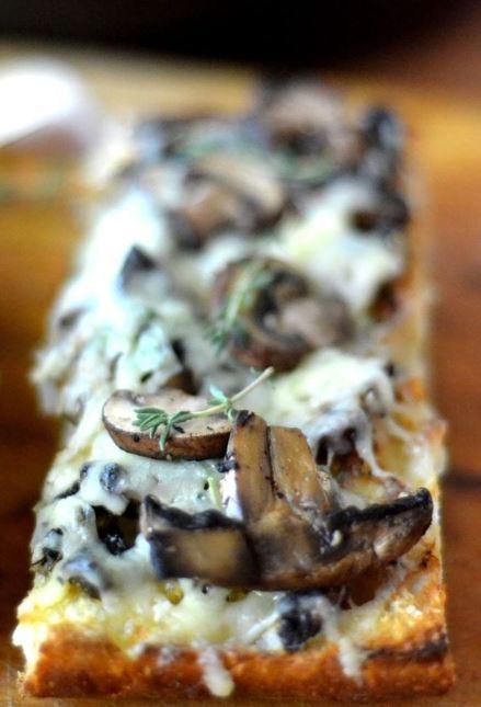 Mushroom & Gruyere Bruschetta