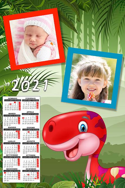 Calendario 2021 a foglio singolo