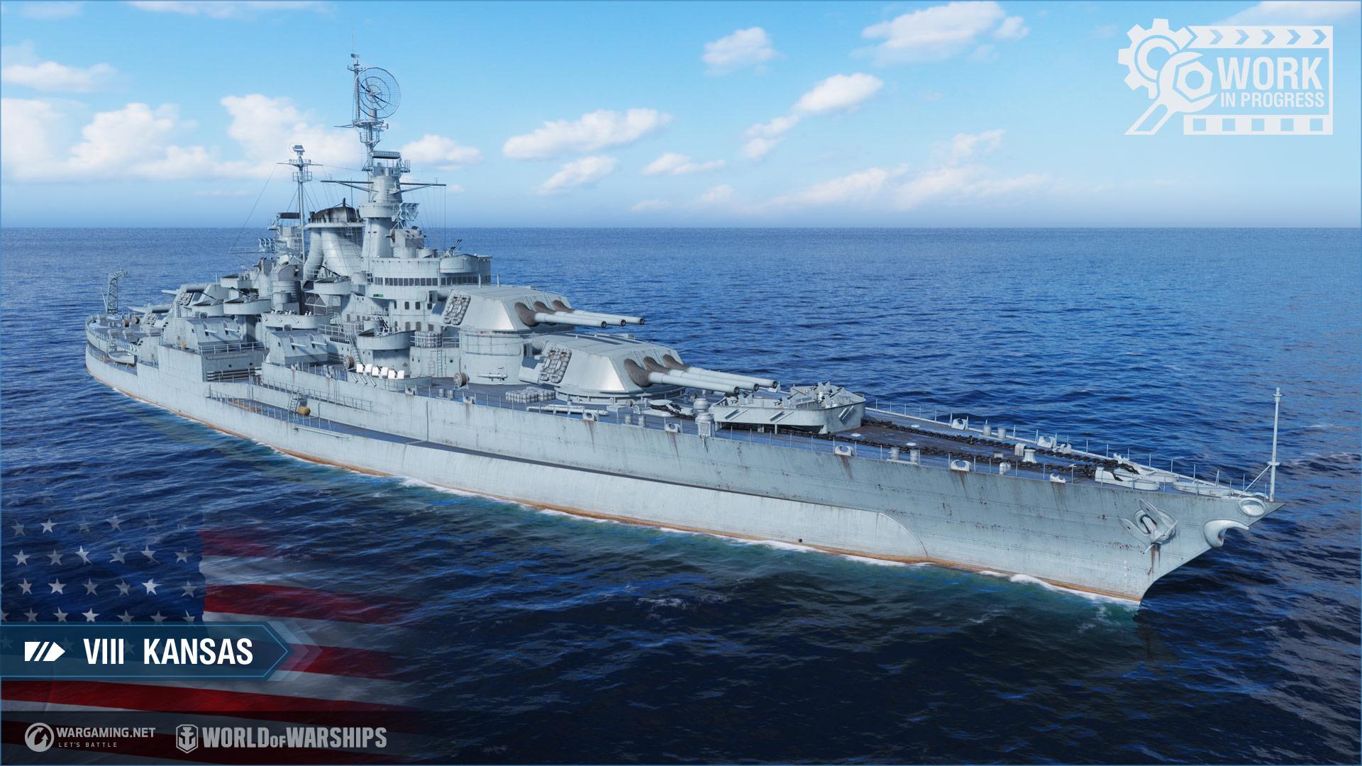 Tier VIII Kansas American Battleship