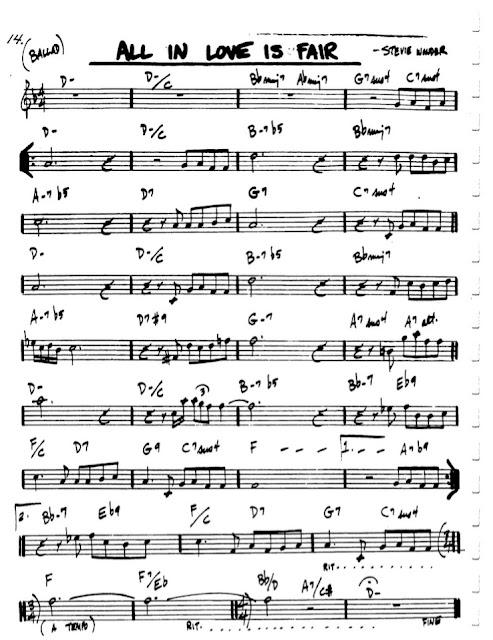 Partitura Flauta Stevie Wonder
