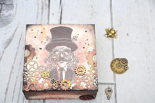 {z cyklu} INSPIRUJĘ… pudełko dla faceta STEAMPUNK MAN