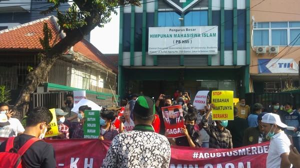 Polisi Amankan 3 Demonstran, HMI Muis Nyatakan Pemimpinnya Hilang