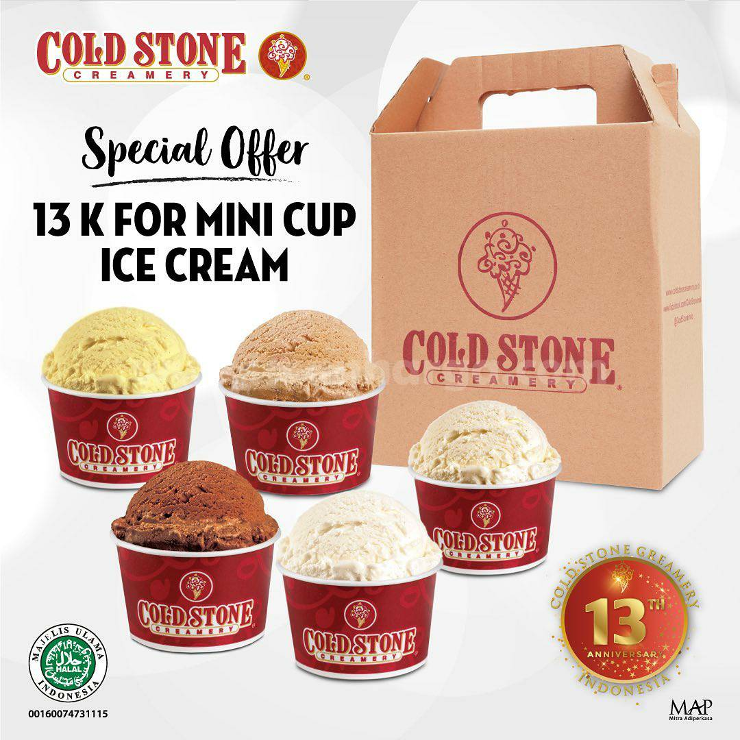 Promo Cold Stone Creamery: Special Offers 5 Cup Ice Cream Harga hanya Rp 65.000