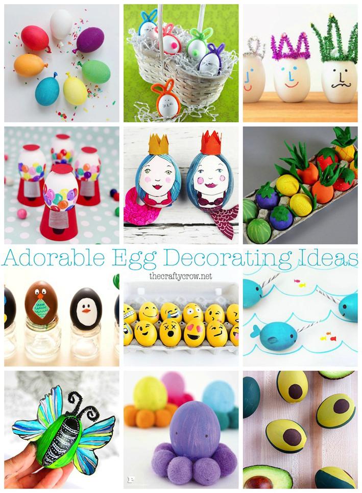 Goiuri yoguri easter egg decoration ideas via the crafty crow for Easy handicrafts to sell