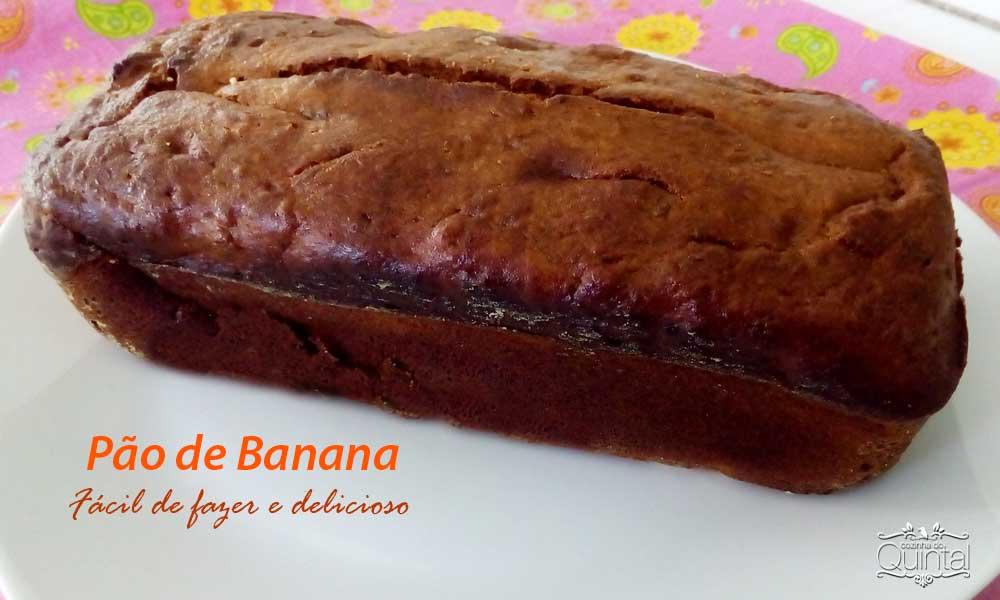 Pão de Banana delicioso na Cozinha do Quintal
