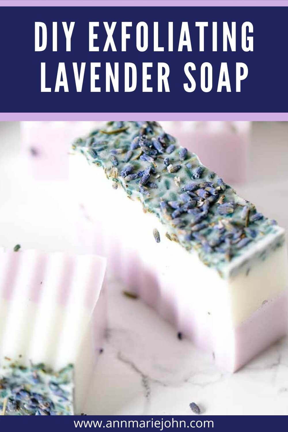 DIY Exfoliating Lavender Soap