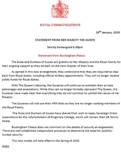 Queen seals 'Megxit' deals as Prince Harry, Meghan Markle drop HRH titles, to repay 2.4m pounds