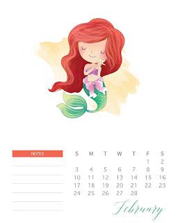 Princesas Disney: Calendario 2019 para Imprimir Gratis.