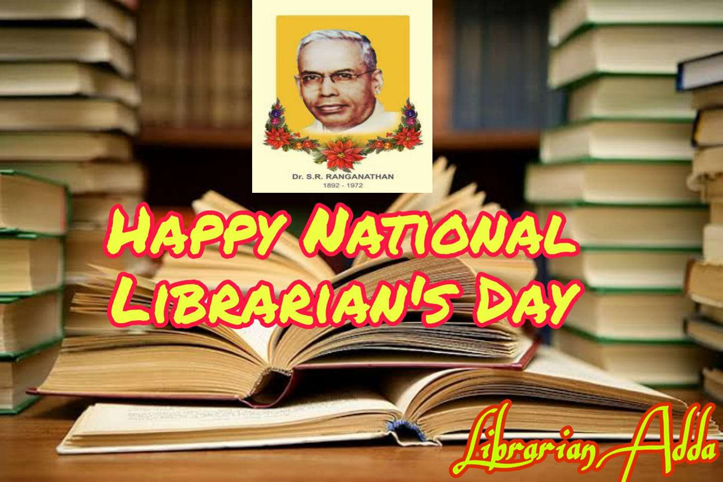 National Librarian Day Wishes Beautiful Image